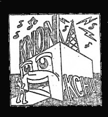 KNON loses its broadcast license, 1986