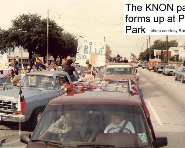 The KNON parade, December 6, 1986