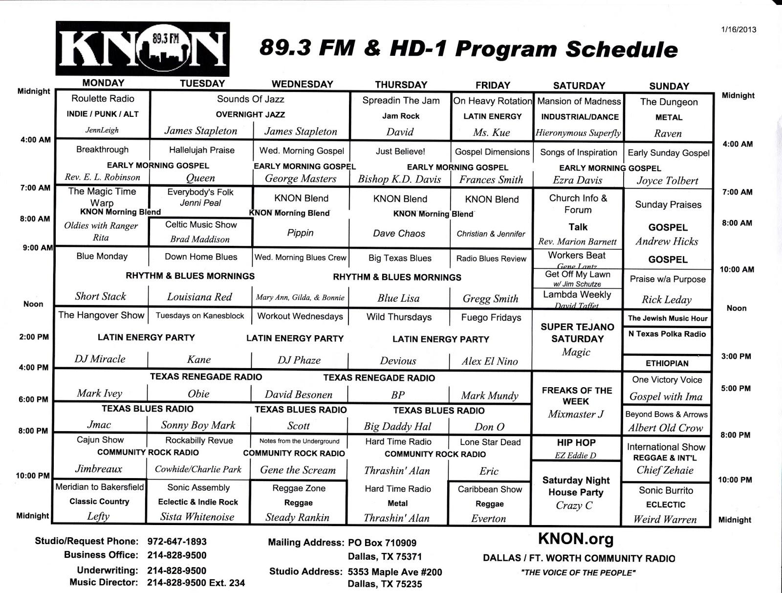 knon-schedule-130116