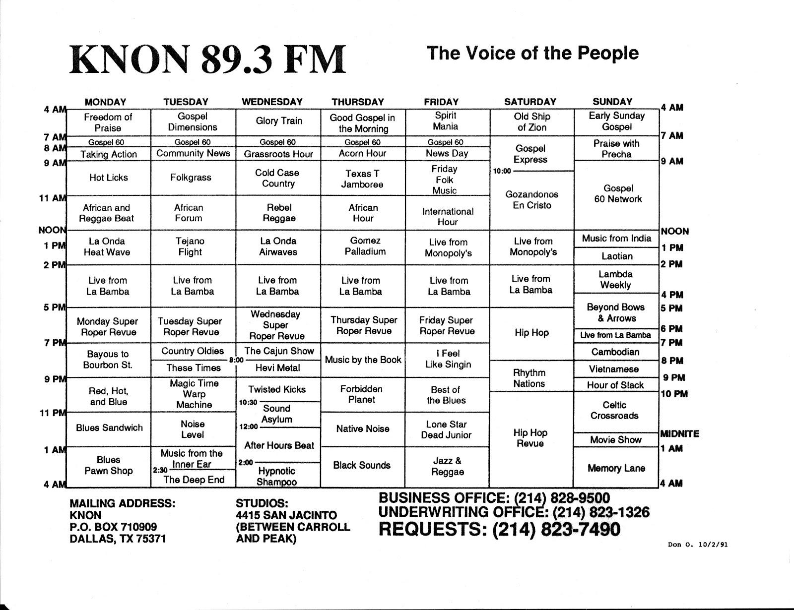 knon-schedule-911002