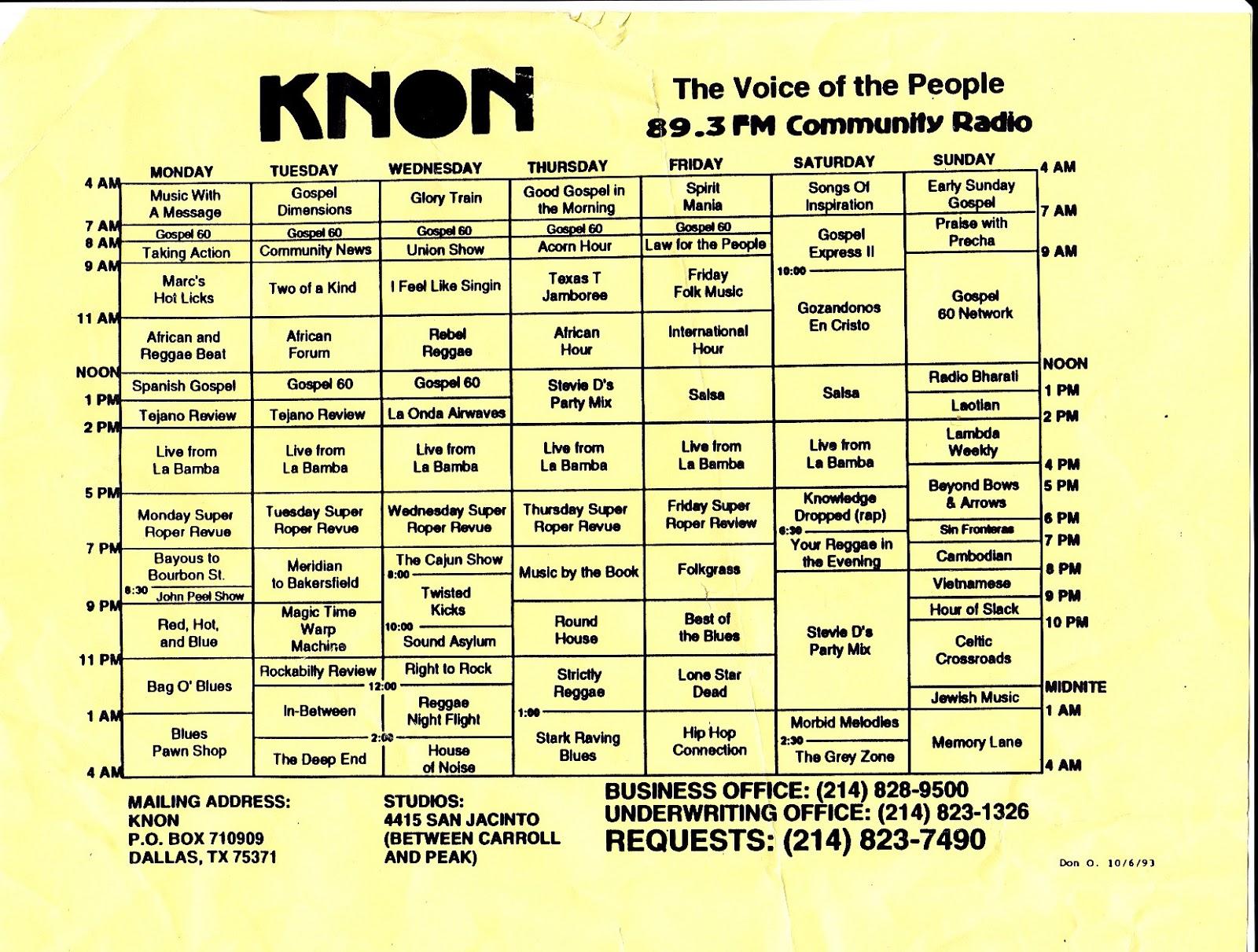 knon-schedule-931006