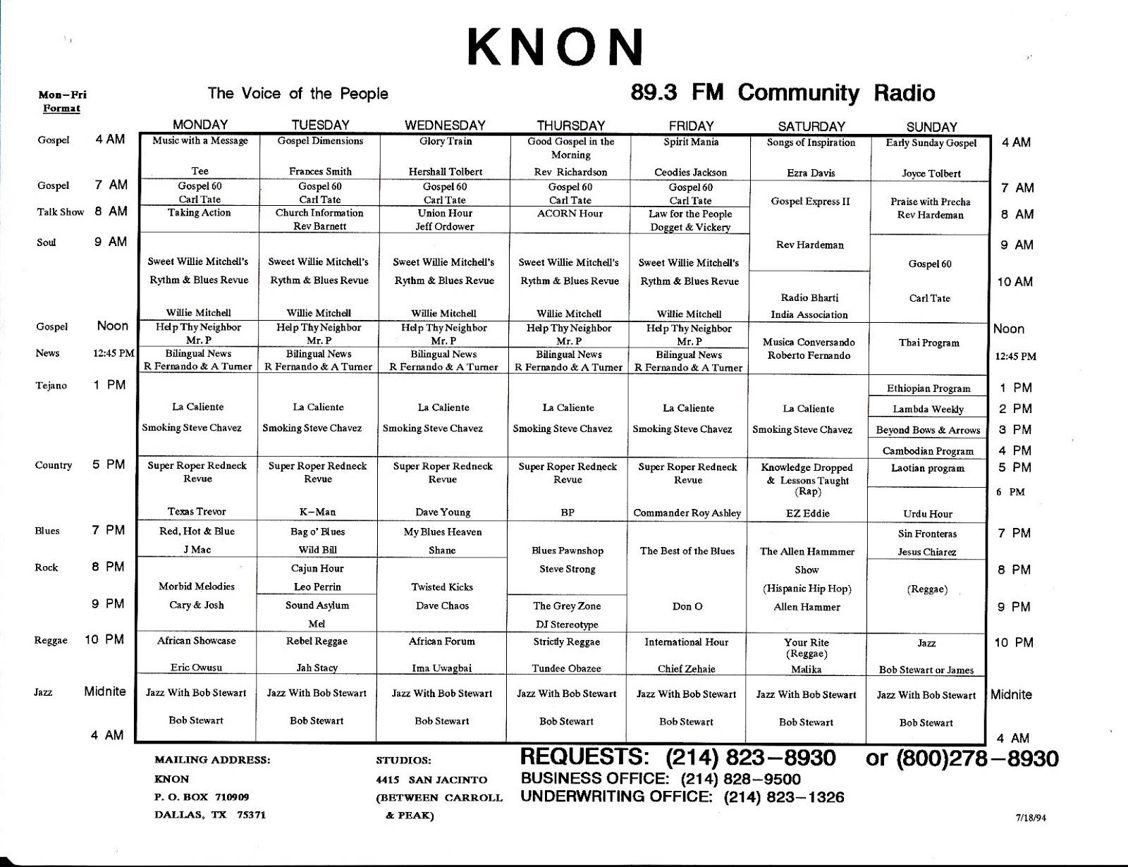 knon-schedule-940718