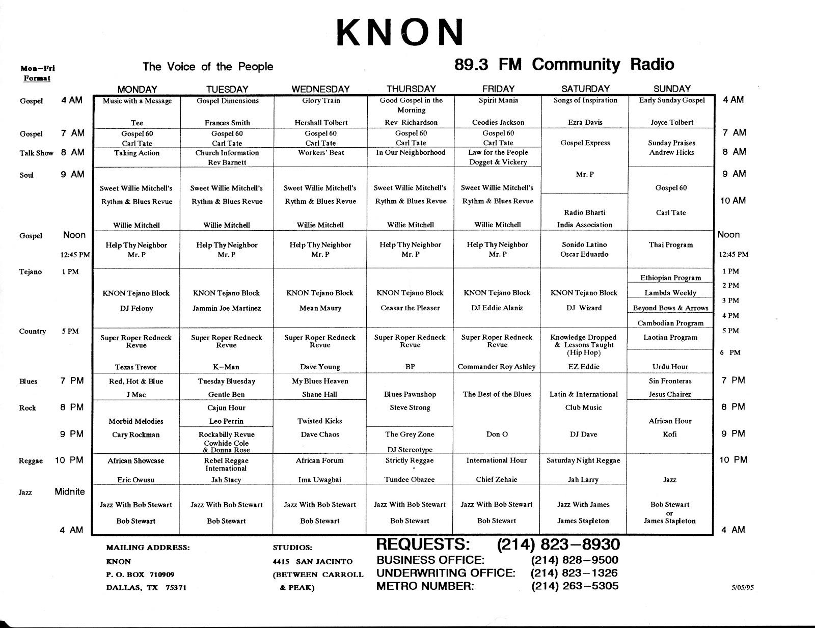 knon-schedule-950505