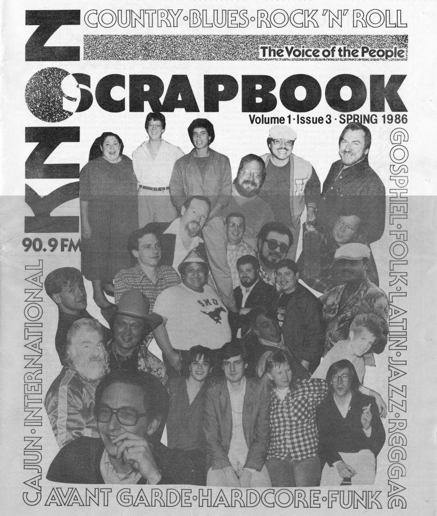 KNON Scrapbook, Volume 3, 1986