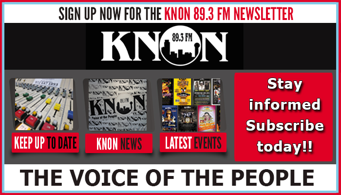 Sign Up For the KNON Newsletter