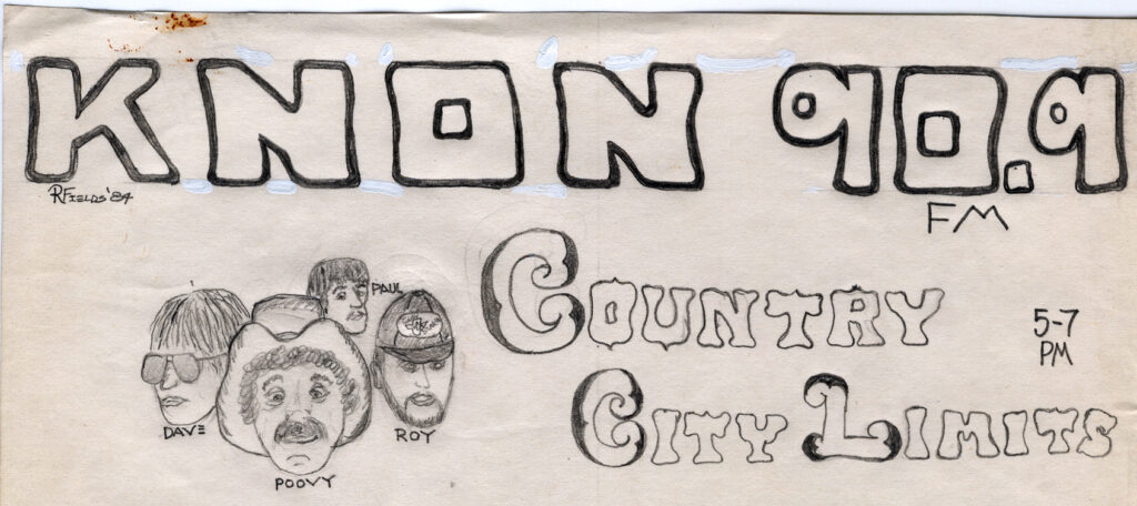 Country City Limits DJ Sketches by Ranger Randell 1984