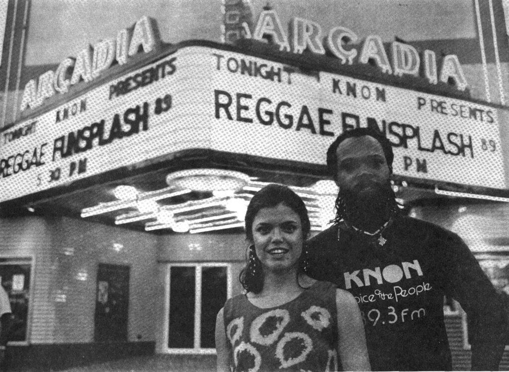 KNON Reggae Show at Arcadia Theatre 1989